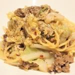 Inazuma Dining - パスタ+ドリンク 1100円 のサルシッチャと白菜のペペロンチーノ