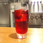 Inazuma Dining - パスタ+ドリンク 1100円 のクランベリージュース