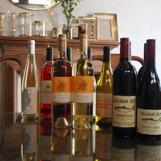 日本では珍しいNYワインも取り揃えています。