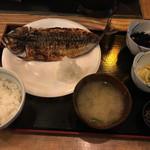 なかめのてっぺん - 鯖の干物のランチ@1,200円