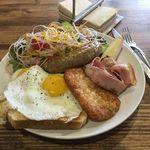 """グリーンファームカフェ - 朝食メニューで一番ボリュームのある""""グリーンファームブレックファスト"""""""