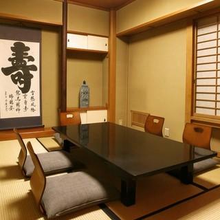 完全個室の落ち着いた雰囲気で食事ができますので接待に最適です