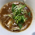 67785318 - GAGANAつけ麺のつけ汁。                       旨し。