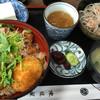 Ajimiya - 料理写真:醤油カツ丼定食。