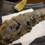 魚真 - ホタテとアオサのりの真丈 ナスのはさみ揚げ
