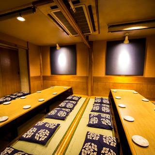 浜松町・大門宴会に♪暖かな和の照明が包み込む大人の為の個室席