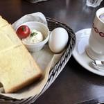 さかい珈琲 - ふわふわトーストのモーニング(430円)