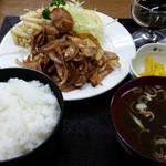 ますや食堂 - ますや食堂 生姜焼き定食1000円ちょい高め