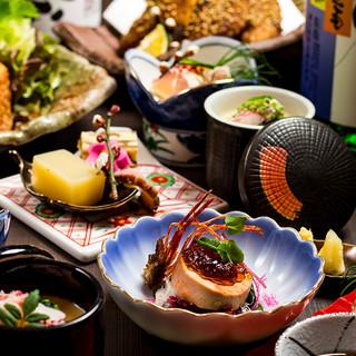 京地鶏、直送鮮魚、割烹コース7品3000円~
