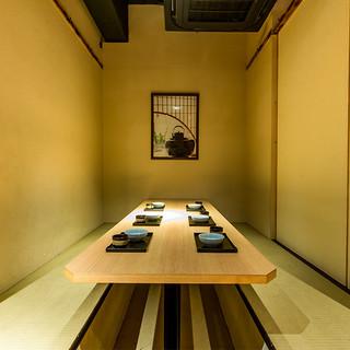 接待用個室少人数の宴会もできる全席完全個室さまざまなシーンに