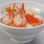 雑魚屋 - 海老北海丼