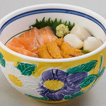 雑魚屋 - ミニ北海丼