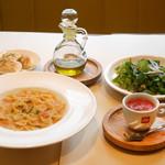 アルトパッショ - 料理写真:パスタランチセット(パスタ・エ・ファジョーリ)