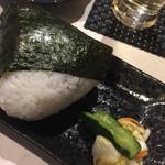 隠れ 昭和酒場 てげてげ - おにぎり 鮭