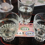 米沢牛黄木 金剛閣 すき焼き しゃぶしゃぶ 毘沙門 - 地酒飲み比べセット