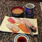 磯のがってん寿司 - がってん握りランチ(972円)