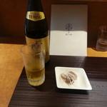 麺 みつヰ - エビスビール(中瓶)&おつまみ2017.5.21