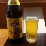 麺 みつヰ - エビスビール(中瓶)2017.5.21