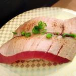 廻鮮寿司 塩釜港 - 炙りトロ500円!