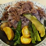 髭戎 - 季節野菜と短角牛の