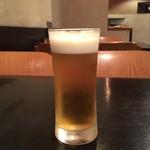 竹や - 生ビール(中)