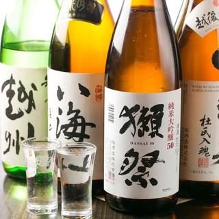 日本酒飲み比べ3種!選んで1,000円フェア実施中♪