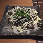 葛城 - おまかせ逸品(砂ずりの炙りガーリックマヨ)