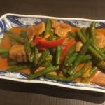 オーキッド - インゲンと豚肉のカレー炒め