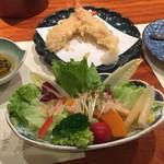 蟹遊亭 - グリーンサラダ ごまドレ
