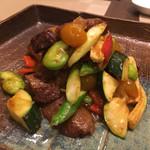 HAMA SYOU - 黒毛和牛ヒウチと金柑の強火炒め