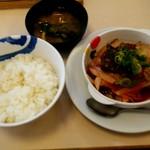 松屋 - 鶏の甘辛味噌定食