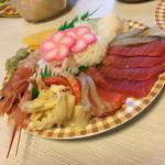 丼丸 市川菅野店 - お刺身盛り二人前(^∇^)