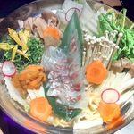 67818747 - 鯛のウニしゃぶ鍋