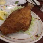 巣鴨ときわ食堂 - カワハギの唐揚げ740円