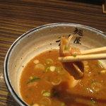 麺屋 利休 - 麺屋 利休:つけ麺(中盛り、あつもり):シナチク