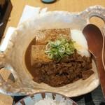"67821672 - ""吟醸出汁""の肉豆腐膳【2017.5】"