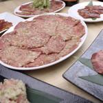焼肉 粋 - まるまる牛タンコース