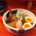 67823546 - 比内地鶏と名古屋コーチンの鶏そば+味玉                       (850円+100円)