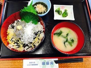 池田丸 - 二色丼¥1100