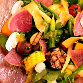 マチルダさんから仕入れる『産直野菜』が全てのお皿に!