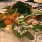 ラ ココット - スモークサーモンとディルのサラダ