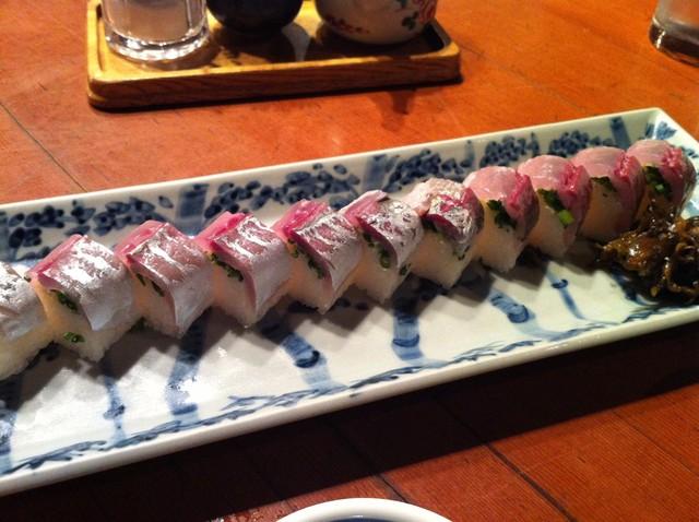 うまいもの 楽味 - 絶対オススメの鯵寿司