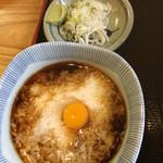 米むら - とろろ汁と薬味