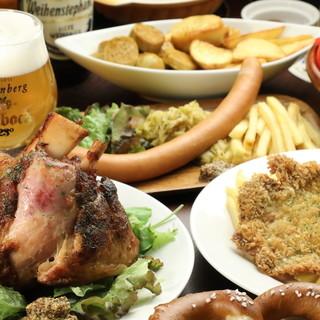 《本場ドイツ料理の数々》一度食べたらやみつきアイスバイン!