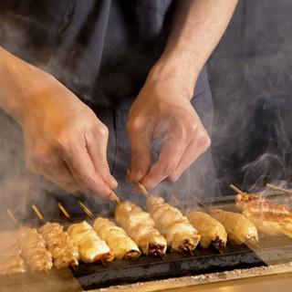 比内地鶏を備長炭でジューシーに焼き上げる【普段使いの最高峰】
