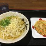 うどん亭やま - 料理写真:温うどん340円&天ぷら100円