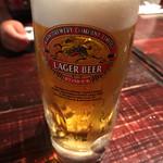 青龍門 - 爆冷生ビール 680円。