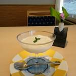 日本料理 華の縁 - デザート ホシヤマ珈琲のコーヒーブランマンジェ