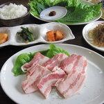 韓国焼肉 韓家 - サンギョプ ランチ
