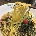 二丁目酒場ぽんた - 麺は細麺